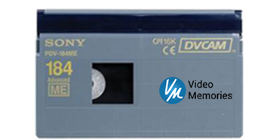 DV Cam Tape Transferred to DVD & File