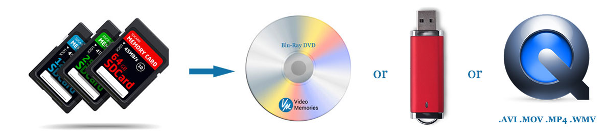 Digital Media Transferred to DVD & File